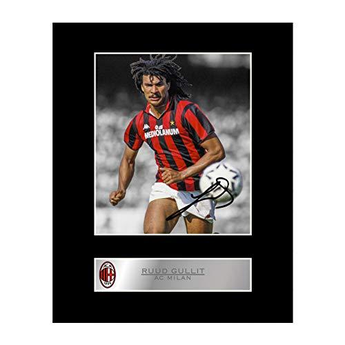 Ruud Gullit Autogramm-Fotodruck AC Mailand FC