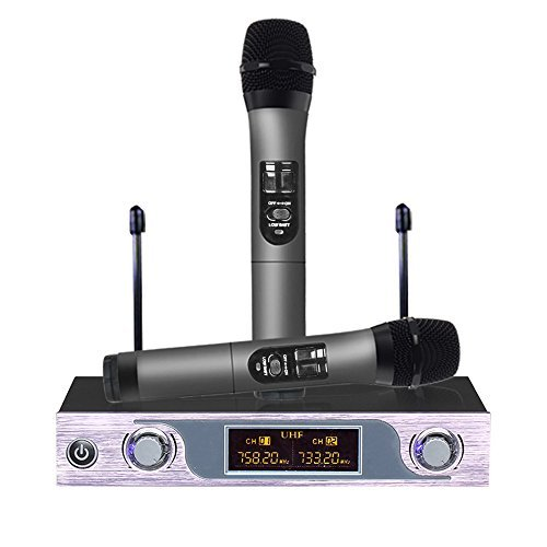 VHF Wireless Dual Microphone System with LED Display