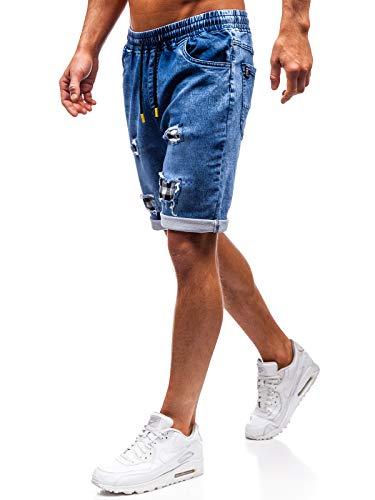 Bolf pantaloncini corti – jeans - coulisse - stile casual – da uomo red fireball hy345 blu-gialli m [6f6]