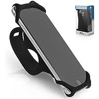 Premium Handyhalterung für Smartphones - für alle Fahrrad Lenkstangen - Langlebiges Rutschfestes Silikon - Universal Befestigung für 99 % aller Smartphones - Sicher & Flexibel - SILICO