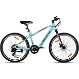 Lectro Clix 26T 7S Speed Electric Cycle (Turquoise & Black)