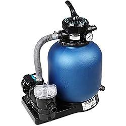 Monzana Pompe Filtre à Sable 15.200 L/h avec préfiltre Système de Filtration Eau Piscine