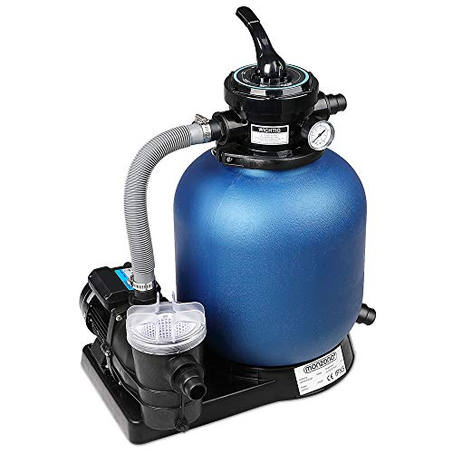 Monzana Filteranlage | 15,2 m³ mit Vorfilter - Poolfilter Filterkessel Sandfilter Sandfilteranlage