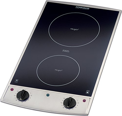 Rommelsbacher EBC 3075/E vitrocéramique ® – Domino plaque de cuisson encastrable – 3000 W – Acier inoxydable