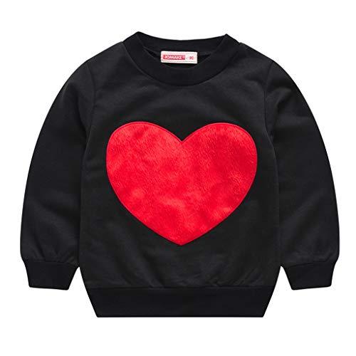 MRURIC Kinderkleidung,Kleinkind Kinder Baby Mädchen Jungen Liebevolles Herz Pullover Sweatshirt T-Shirt Tops,Familienkleidung Langarmshirt Basic Einfarbige Sweatshirt Pullover