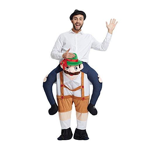 Mymgg Erwachsenes Unisex Maskottchenkostüm-Dummy-Beinhosen Weihnachtslustiges Kostüm,D