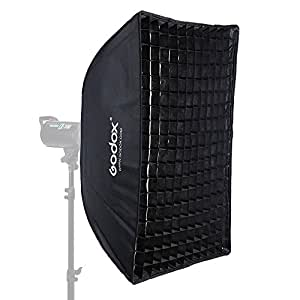 Godox sb-ue 60x 90cm/Quadrangle 61x 88,9cm Grille nid d'abeille parapluie Boîte à lumière avec monture Bowens Studio pour flash Speedlite