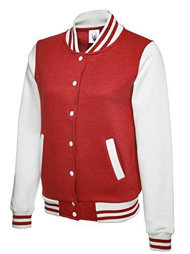 Uneek Giacca Varsity Letterman College Stile - disponibile in 6 colori Red / White S