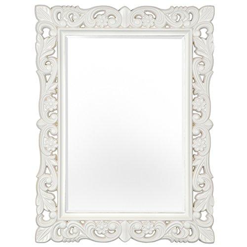 Innova editions firenze–specchio, cornice in pietra bianca, 76x 101cm
