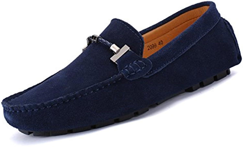 Shufang-shoes, Zapatos Mocasines para Hombre 2018 Conducción de los Hombres Mocasines con Capucha Baja Trabajo...