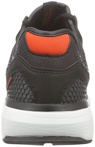 Jack & Jones Jjinvictus Kurim Finemold Sneaker, Baskets Basses homme Gris - Grau (Anthracite)