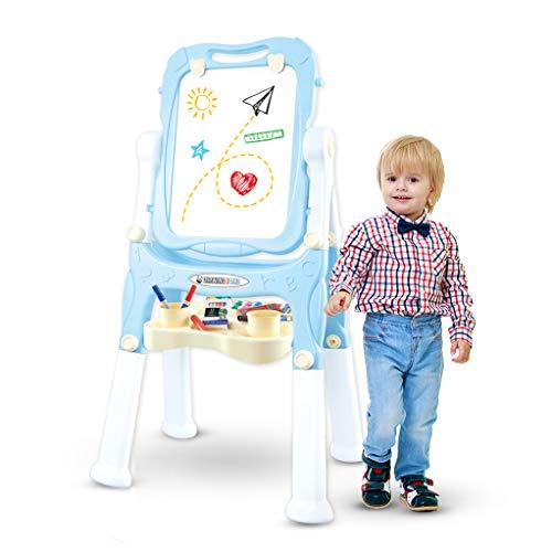 Caballete para Niños de SmartPanda - Pizarra y Pizarra Blanca Ajustable para Niños y Niñas, 2 Diseños en 1 - Caballete con Todos los Accesorios para Dibujar (Azul)