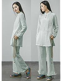 Ropa Femenina de Lino de algodón de Yoga Desgaste de meditación Ropa Deportiva  de 118db0e88705