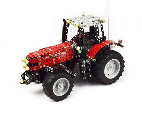 RC Auto kaufen Traktor Bild: Tronico 10084 - Metallbaukasten Traktor Massey Ferguson MF-8690 mit Fernsteuerung, Profi Serie, Maßstab 1:16, 726-teilig, rot*