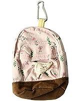 Tragbar Segeltuch Blume Kleingeldbörse Schlüsseletui Mini Schultasche, Pink