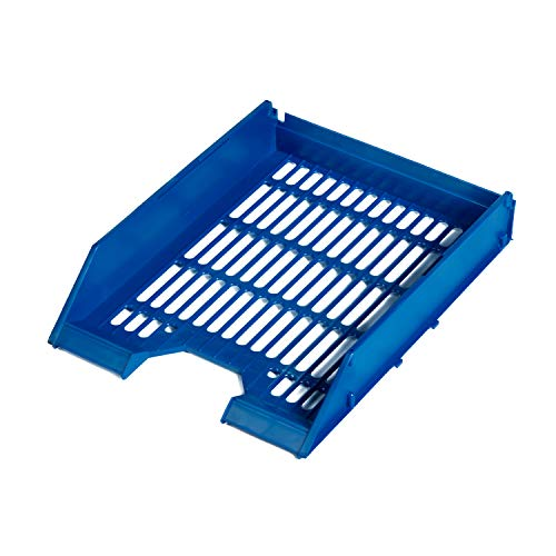 Set 20 Vaschette Portacorrispondenza Portadocumenti A4 (blu forata)
