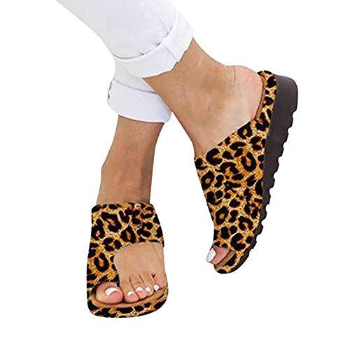 Jiang Hui Frauen Plattform Sandale Schuhe Mit Bunion Splints, Damen Sommer Strand Reise Schuhe Big Toe Hallux Valgus Unterstützung Plattform Sandale Schuhe Für Bunion Correct