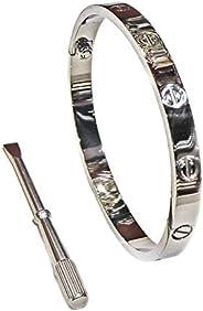 18K Gold Plated Screw Design Bangle Bracelet for Lover
