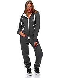 Hoppe Gennadi Damen Jumpsuit Onesie Jogger Einteiler Overall Jogging Anzug Trainingsanzug - Slim FIT
