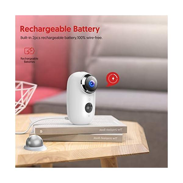 Victure-1080P-Telecamera-di-Video-sorveglianza-Wi-Fi-Esterna-Telecamera-batteria-senza-Fili-con-PIR-Rilevamento-del-Movimento-Audio-Bidirezionale-IR-Visione-Notturna-IP65-Impermeabile