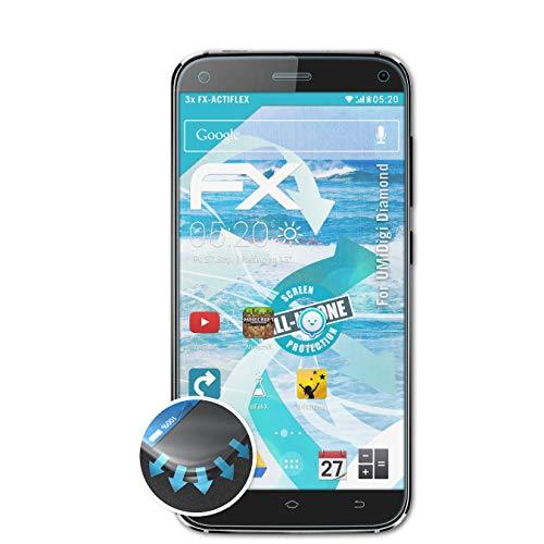 atFolix Schutzfolie passend für UMiDigi Diamond Folie, ultraklare & Flexible FX Bildschirmschutzfolie (3X)