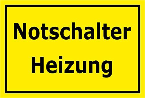 Melis Folienwerkstatt Aufkleber - Notschalter Heizung - 45x30cm - S00070-078-C -