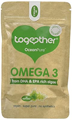 Together Omega 3 DHA Rich Algae Oil Softgels - Pack of 30 Softgels by Together Health Ltd