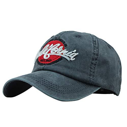 9d048b5f3b4421 LLonGao Unisex Outdoor Cotton Hochwertige Bestickte Unisex Baseball Caps  Einstellbar Brief Stickerei Atmungsaktiv Sonnenschutzmittel Mütze