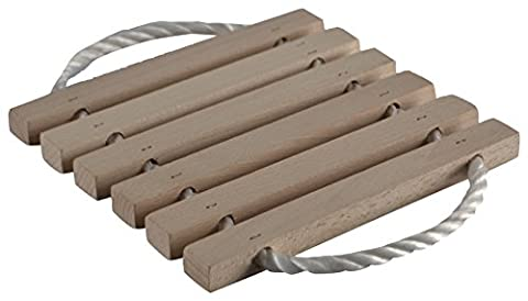 Wood'n it be nice 6 Lathe Wooden Trivet Hot Plate Stand Placemat, Wood
