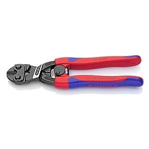 Knipex 71 12 200 CoBolt Kompakt-Bolzenschneider, Griffe mit Mehrkomponenten-Hülle, Öffnungsfeder, 200 mm