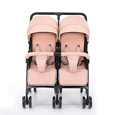 CHEERALL Cochecitos de Paraguas Dobles Ligeros y Flexibles Sillitas para bebés Amortiguadores Plegables Cochecitos para bebés Dobles con Respaldo Ajustable, Seguro y cómodo