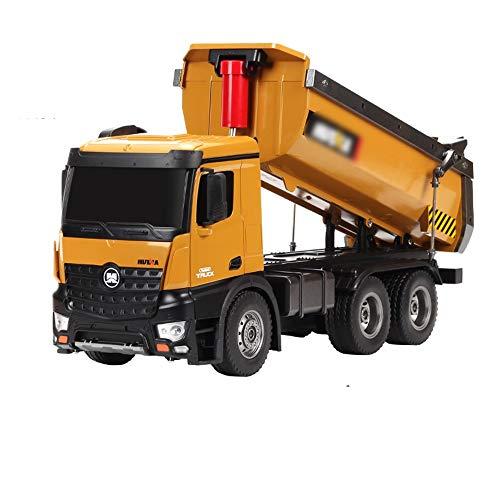 Xyanzi ertongwanju RC Truck, 2,4 GHz 1:14 RC Truck 10-CH Fernbedienung Bau Muldenkipper Traktor Mit Lichter Simulation Muldenkipper Engineering Fahrzeuge