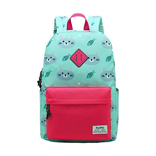 Kinder-Rucksack für Kinder Jungen Mädchen Kleinkind Einhorn Kindergarten Wandern Reise Schule Buch Tasche Pink Blau Grün, Style 1 Green (Grün) - ZYS6119-Dujiaoshou