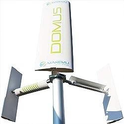 Vertikale Kleinwindanlage DOMUS Windkraftanlage 12 V Windenergie Windkraft Windgenerator Rotorblätter Haus Garten Dach Terrasse