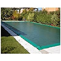 CPA - Telo Di Copertura Per Piscina 6X12 Invernale Verde/Nero 210 Gr/Mq Completo Di Salsicciotti