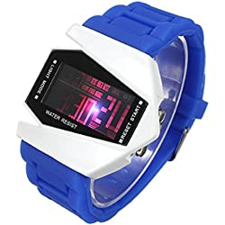 PromiseU Cool Stealth Fighter LED Sport Wrist Watch Waterproof Silicone Watch