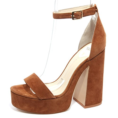 Sandalo Windsor Smith tacco in camoscio nero Brown