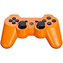 AMGGLOBAL® Orange Portable Wireless Rechargable Bluetooth Gamepad Remote Joystick Controller Gamepad For Playstation 3 PS3