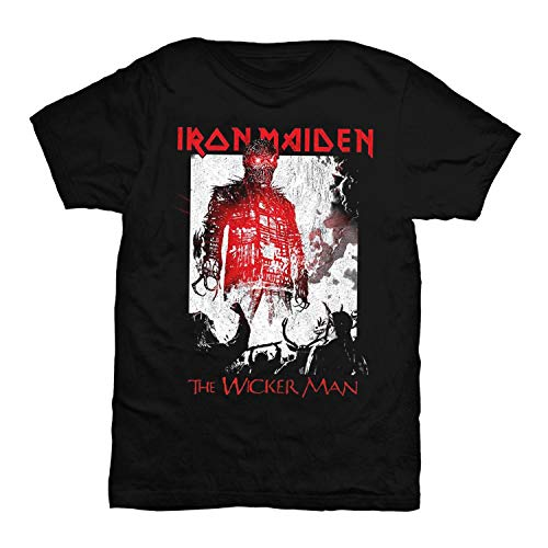 Iron Maiden Officially Licensed - The Wicker Man T-Shirt T Shirt (Medium) - Wicker Man-shirt