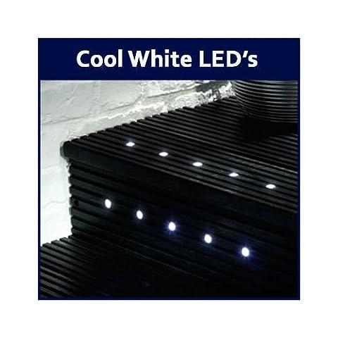 6 x Cool White LED 15mm Round Garden Decking Deck