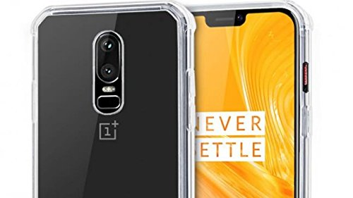 True Desire OnePlus 6 Clear Case, Jump Start Shockproof Ultra Slim Fit Silicone One Plus 6 Transparent Cover TPU Soft Gel Rubber Cover Shock Resistance Protective Back Bumper for OnePlus6