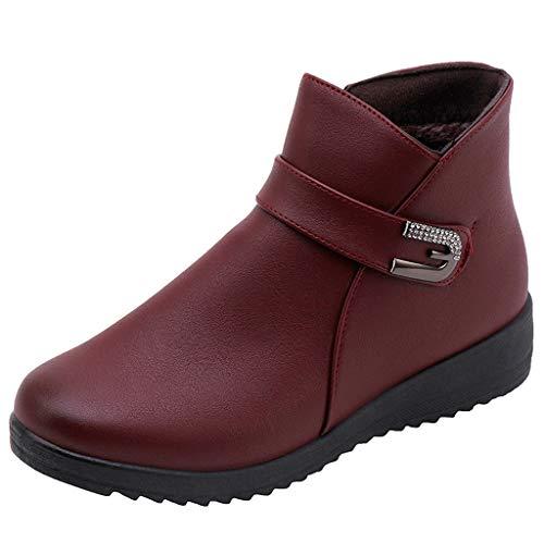 Preisvergleich Produktbild Yesmile Chelsea Boots Stiefeletten Damen Elegant rutschfeste Stiefel Schuhe Schlupfstiefel Damen Winterstiefel Winter Kurze Stiefel