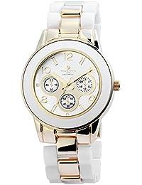 timento Analog Mujer reloj, metal, diámetro 39mm, oro plata–510002600006