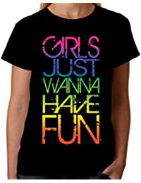 Velocitee Ladies T-Shirt Girls Just Wanna Have Fun W18251
