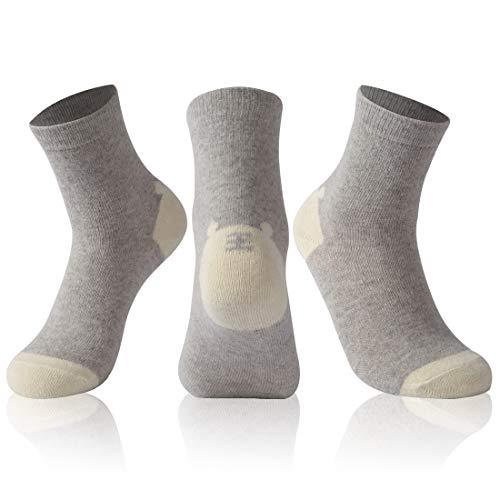 Crew Socken Casual, 5Paar Vintage Weicher Warm Comfort Cozy Stiefel Socken, Damen, Grey Pairs 3, 6-11 ()
