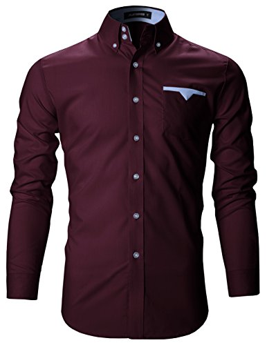 FLATSEVEN-Mens-Premium-Slim-Fit-Casual-Shirts