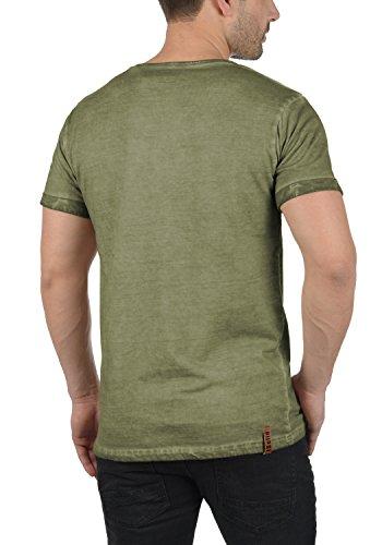 Solid Teil Herren T-Shirt Kurzarm Shirt Rundhalsausschnitt Brusttasche Aus  100% Baumwolle Aloe !