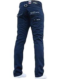 BNWT New pour homme ENZO Pantalons Jeans BLEU Housse de Marque droite  lavage tous les Ceinture 74797a6965e8