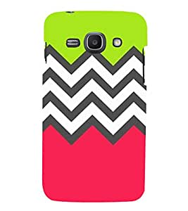 HiFi Designer Phone Back Case Cover Samsung Galaxy Ace 3 :: Samsung Galaxy Ace 3 S7272 Duos :: Samsung Galaxy Ace 3 3G S7270 :: Samsung Galaxy Ace 3 Lte S7275 ( Pink Green Colorful Pattern Design )