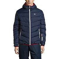 Ultrasport Advanced Chaqueta de plumas de montaña/deportes de invierno para hombre Mylo, chaqueta de esquí, chaqueta de snowboard, chaqueta acolchada, chaqueta de invierno, chaqueta de nieve, Naranja/Azul Victoria, XL